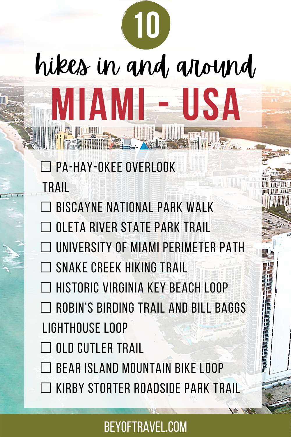 Best hikes in Miami